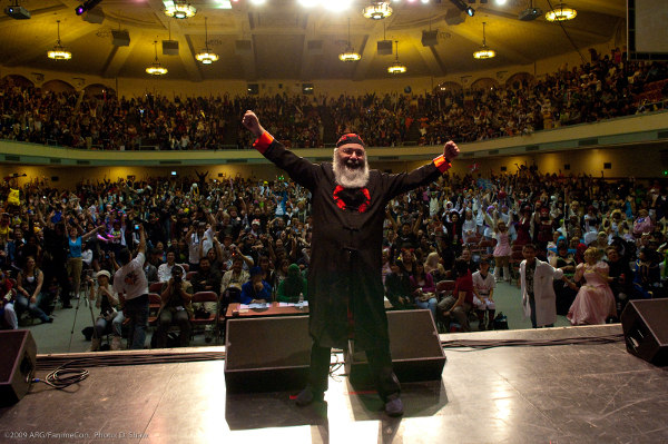 Ric Meyers at FanimeCon, San Jose McEnery Convention Center, California in 2009