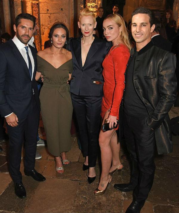 Scott Adkins, Zara Phythian, Tilda Swinton, Katrina Durden and Alaa Safi at the UK premiere of Doctor Strange in October 2016.