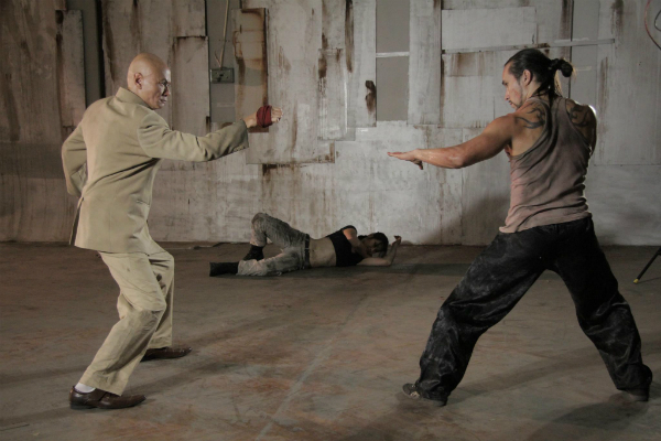Gordon Liu and Tim Man face off in Kill 'em All.