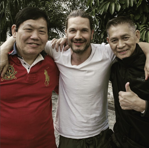 Mars, Michael Worth, and the late Phillip Ko during filming for Michael's upcoming Bruceploitation documentary.