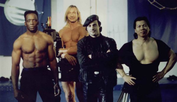 The cast of TC 2000 (1993). From left: Billy Blanks, Matthias Hues, Jalal Merhi and Bolo Yeung.
